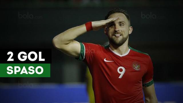 Ilija Spasojevic, striker naturalisasi kelahiran Montenegro, mencetak dua gol saat Timnas Indonesia mengalahkan Guyana 2-1.