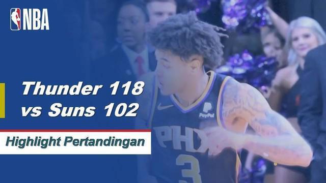 Russell Westbrook memimpin Thunder dengan 40 poin saat mereka meraih kemenangan atas Suns, 118-102.