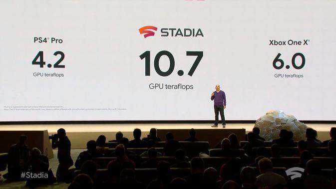 Performa Stadia lebih unggul ketimbang Xbox X One dan PS4 Pro. (Doc: Stadia)