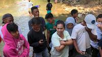 Temuan jasad bayi terlilit pakaian dalam wanita menggegerkan Kota Gorontalo. (Foto: Liputan6.com/Arfandi Ibrahim)