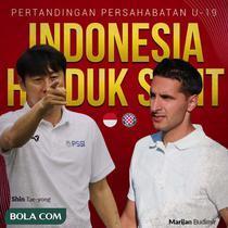 Timnas Indonesia - Timnas Indonesia U-19 Vs Hajduk Split U-19 - Head to Head Pelatih (Bola.com/Adreanus Titus)
