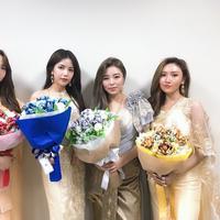 Girlband K-Pop, Mamamoo sukses rebut hati fans Indonesia dengan batik dan kebaya. (Foto: Twitter RBW Mamamoo)