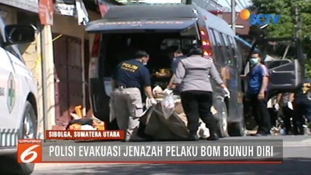 Dari evakuasi istri dan anak terduga teroris di Sibolga, Sumater Utara, polisi temukan 3 kuintal bom di dalam rumah.