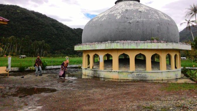 Kubah Masjid Al-Tsunami yang hanyut oleh gelombang tsunami Aceh (Liputan6.com/Windy Phagta)
