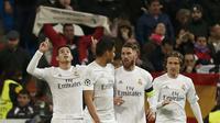 Skuat Real Madrid saat menjamu AS Roma (Reuters)