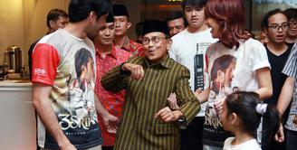 Acara nonton bareng (nobar) film 3 Srikandi digelar Kamis (04/08/2016) di XXI Premiere, Kota Kasablanka, Jakarta Selatan. Acara itu dihadiri oleh BJ Habibie. (Deki Prayoga/Bintang.com)