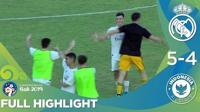 Berita video highlights U-20 International Cup 2019 antara Real Madrid melawan Indonesia All Stars yang berakhir dengan skor 5-4, Selasa (3/12/2019).