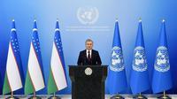 Presiden Uzbekistan Shavkat Mirziyoyev menyatakan bahwa pandemi global Corona COVID-19 telah sangat mengubah hubungan internasional (Kedubes Uzbekistan)