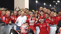 CEO Ducati, Claudio Domenicali, menyebut perjalanan MotoGP 2019 masih sangat panjang dan Andrea Dovizioso masih bisa mengeluarkan penampilan terbaiknya. (AFP/Karim Jaafar)
