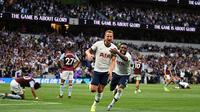 Tottenham Hotspur menang 3-1 atas Aston Villa pada laga pekan perdana Premier League, di Tottenham Hotspur Stadium, Minggu (11/8/2019). (AFP/DANIEL LEAL-OLIVAS)