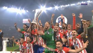 Antoine Griezmann menginspirasi Atletico Madrid meraih gelar Liga Europa kedua mereka di bawah besutan Diego Simeone. Dua golnya m...