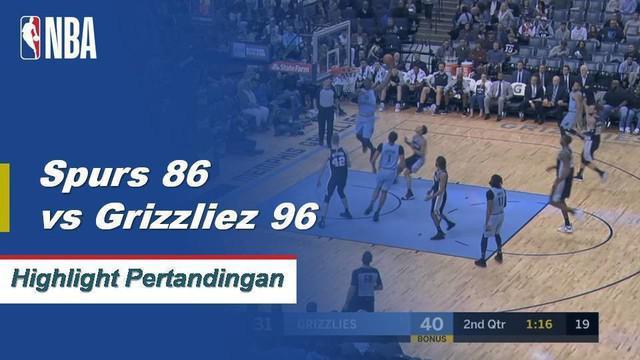 marc Gasol memimpin semua skor dengan 26 poin dan 14 rebound sebagai Memphis mengalahkan Spurs