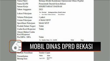 Pimpinan DPRD Kota Bekasi anggarkan pembelian mobil dinas senilai Rp 1 miliar. Pengadaan ini dianggap tidak menunjukkan keprihatinan di tengah kesulitan masyarakat akibat pandemi Covid-19.