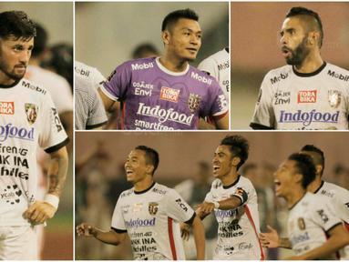 Berikut ini enam pemain Bali United yang akan menjadi momok bagi Persija pada laga final Piala Presiden 2018. Diantaranya, Stefano Lilipaly, Demerson Bruno, Fadil Sausu dan kiper Wawan Hendrawan. (Bola.com/M Iqbal Ichsan)