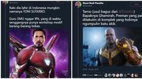 Nama Lengkap Pahlawan Avengers Kalau Lahir di Indonesia (Sumber: Twitter/@ShaniBudi