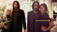 Foto Keanu Reeves dan penggemar wanitanya (Sumber: gosocial)