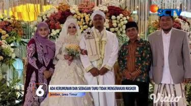 Seorang tokoh agama di Kabupaten Jember, KH Abdullah Syamsul Arifin menggelar pesta pernikahan anaknya di tengah pemberlakuan pembatasan kegiatan masyarakat level 4.
