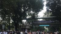 Situasi Terkini di Depan Gedung Mahkamah Konstitusi, Sehari Menjelang Putusan Sengketa Hasil Pilpres, Selasa (26/6/2019). (Foto: Muhammad Radityo Priyasmoro/Liputan6.com)