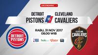 Detroit Pistons Vs Cleveland Cavaliers (Bola.com/Adreanus Titus)