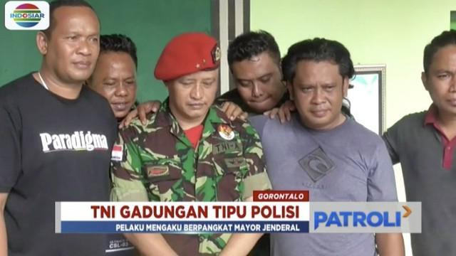 Pelaku diringkus setelah mendapatkan laporan warga tentang adanya penipuan uang oleh TNI gadungan berpangkat mayor jenderal dari satuan kopassus tersebut.