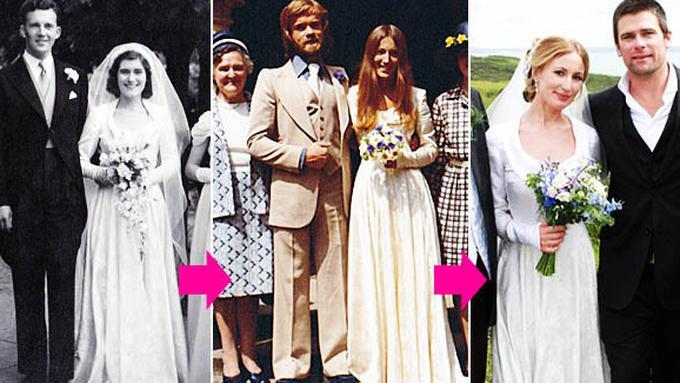 Pernikahan Romantis Wanita Ini Pakai Gaun Pengantin Milik Neneknya