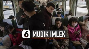 Tahun baru China atau imlek menjadi waktu mudik bagi warga Tiongkok. Bahkan aktivitas mudik di momen ini disebut sebagai migrasi terbesar dunia.