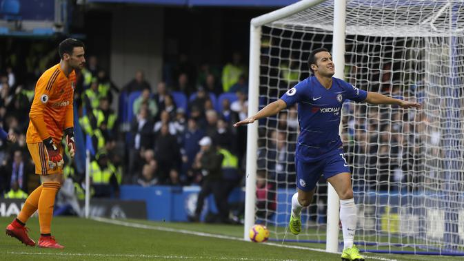 Striker Chelsea, Pedro Rodriguez (AP Photo/Kirsty Wigglesworth)