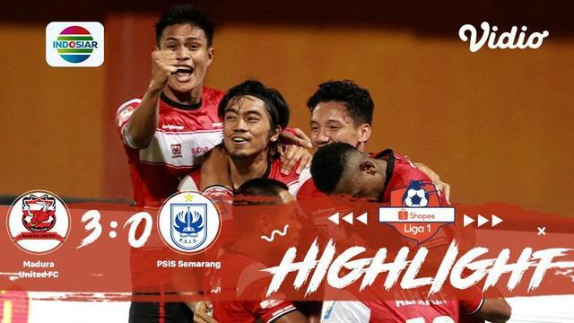 Pertandingan #ShopeeLiga1, antara #Madura United FC VS #PSIS Semarang yang berlangsung di stadion Gelora Madura Ratu Pamelingan, M...