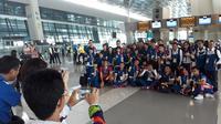 Atlet dan official peserta Asian Games 2018, mulai memenuhi Bandara Internasional Soekarno Hatta Kota Tangerang.