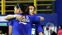 Pasangan Greysia Polii/Apriyani Rahayu menyumbangkan poin saat tim putri Indonesia menumbangkan India 3-1 pada perempat final Kejuaraan Bulutangkis Asia Beregu 2018, Jumat (9/2/2018). (PBSI)