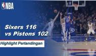 Joel Embiid mencetak 24 poin untuk pergi bersama dengan delapan rebound ketika 76ers menang atas Pistons, 116-102.