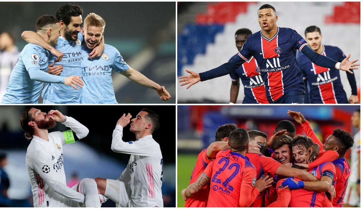 Laga-laga seru di perempat final Liga Champions resmi tuntas tadi malam. Tercatat ada empat klub yang berhak melaju ke fase selanjutnya. Berikut empat tim yang mampu menembus semifinal Liga Champions.