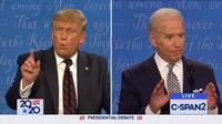 Presiden Donald Trump dan mantan Wakil Presiden Joe Biden di debat perdana capres AS 2020. Dok: C-Span