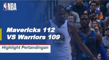The Mavericks menang 112-109 untuk mendapatkan kemenangan pertama mereka atas Golden State sejak Desember 2015, di belakang upaya Luka Doncic (24 poin) dan Harrison Barnes (23 poin).