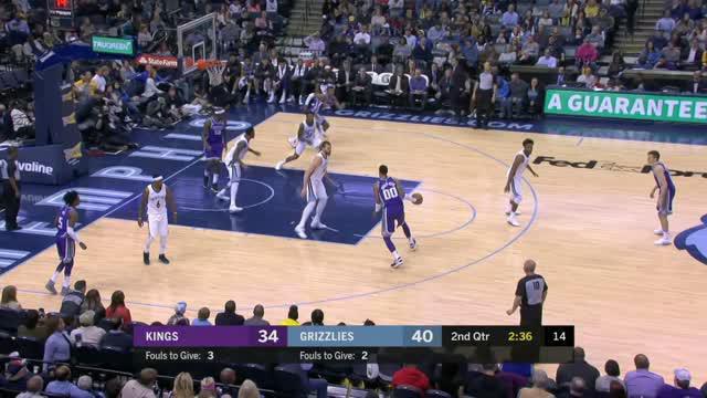 Berita video game recap NBA 2017-2018 antara Memphis Grizzlies melawan Sacramento Kings dengan skor 106-88.