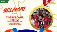 Tim Polo air putra meraih emas pertama bagi indonesia  di SEA Games 2019 (Bola.com/Dody Iryawan)