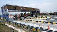 Gerbang tol Ngemplak merupakan salah satu pintu ruas jalan tol Solo-Ngawi menuju Kota Solo.(Liputan6.com.Fajar Abrori)