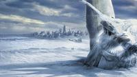 Film The Day After Tomorrow menampilkan berubahnya iklim bumi secara ekstrem. Mengantarkan pada hari akhir.