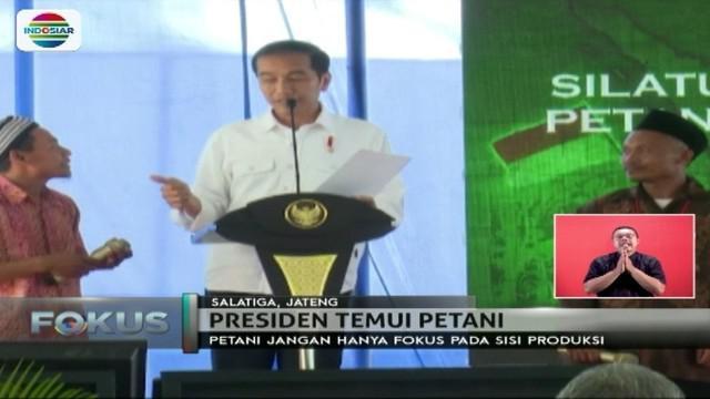 Menurut Presiden Jokowi, petani juga harus memikirkan strategi terhadap hasil panen. Apa tujuannya?