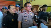 Kapolresta Jambi, Kombes Pol Fauzi Dalimunthe memberikan keterangan pers. (Foto: Liputan6.com/B Santoso)
