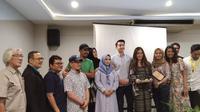 Syukuran film Dua Surga Dalam Cintaku di Hotel Sofyan, Tebet, Jakarta Selatan, Kamis (1/11/2018).