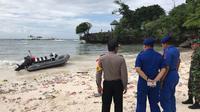 Polres Kabupaten Selayar, Sulawesi Selatan, resmi menyelidiki kasus KM Lestari Maju yang kandas pada Selasa, 3 Juli 2018. (Foto: Dok. Polres Kabupaten Selayar untuk Eka Hakim/Liputan6.com)