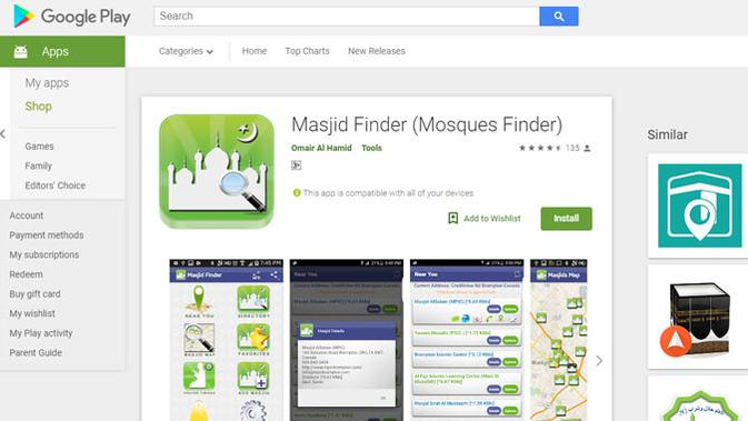 Masjid Finder. (Doc: Google Play Store)