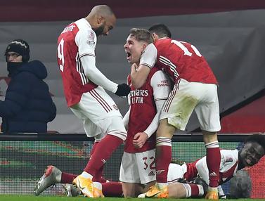 FOTO: Arsenal Butuh Extra Time Untuk Taklukkan Newcastle United 2-0