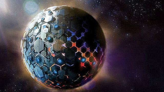 Ilustrasi mega struktur alien