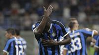 Romelu Lukaku jadi korban rasisme di kandang Cagliari saat Inter Milan petik kemenangan (AP/Luca Bruno)