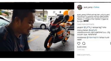 Pria asal Malaysia dapat kado Honda CBR1000RR dari sang istri