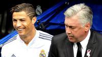 Cristiano Ronaldo dan Carlo Ancelotti (GERARD JULIEN / AFP)