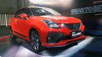 New Suzuki Baleno hadir lebih bergaya dengan eksterior dan interior lebih modern. (Aarief / Liputan6.com)
