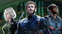 Captain America, Black Widow, dan Falcon di Avengers: Infinity War. (VK.com/Comicbook.com)